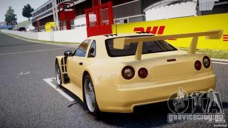 Nissan Skyline R34 v1.0 для GTA 4 вид сзади слева