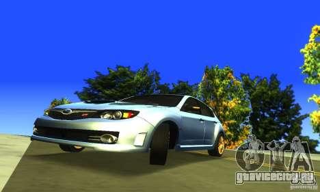 Subaru Impresa WRX STI 2008 для GTA San Andreas вид сзади