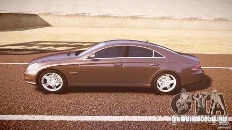 Mercedes-Benz CLS 63 для GTA 4 вид сзади слева