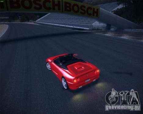 Ferrari F355 Spyder для GTA San Andreas вид изнутри
