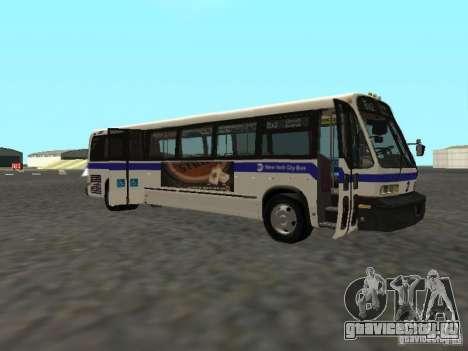 GMC RTS MTA New York City Bus для GTA San Andreas вид сзади слева