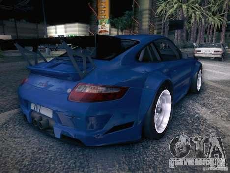 Porsche 997 GT3 RSR для GTA San Andreas вид сзади слева