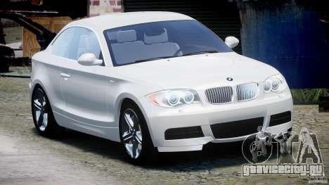 BMW 135i Coupe 2009 [Final] для GTA 4 вид сзади
