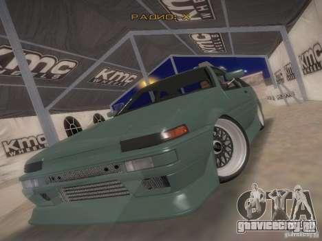 Toyota Sprinter Trueno AE86 для GTA San Andreas вид сзади