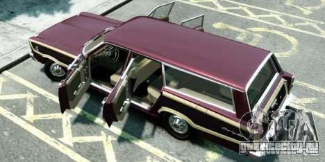 Ford Country Squire для GTA 4 вид сзади слева
