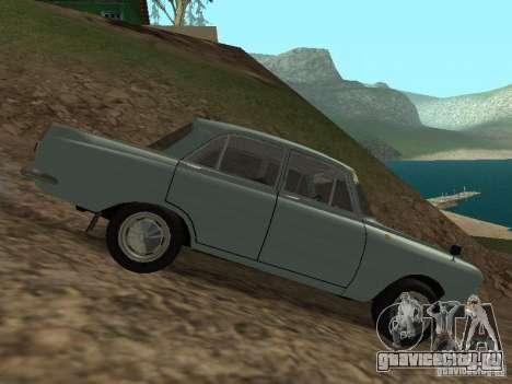 ИЖ 412 Москвич для GTA San Andreas вид сзади