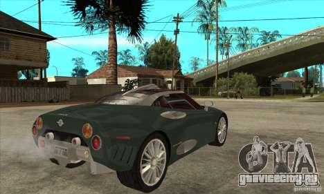 Spyker C8 Laviolete для GTA San Andreas вид справа