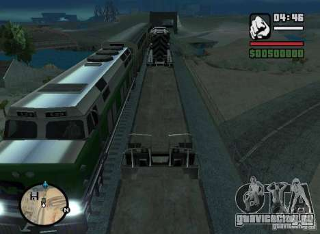 Активация путей (Новые маршруты для поездов) для GTA San Andreas вид слева