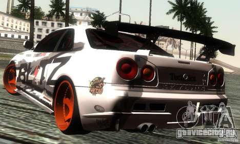 Nissan Skyline R34 Blitz для GTA San Andreas вид слева