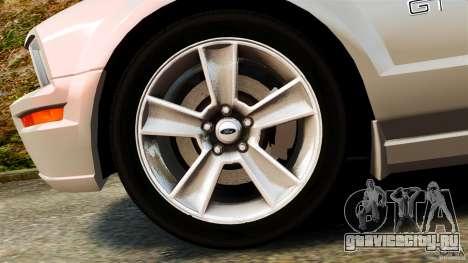 Ford Mustang GT 2005 для GTA 4 вид изнутри