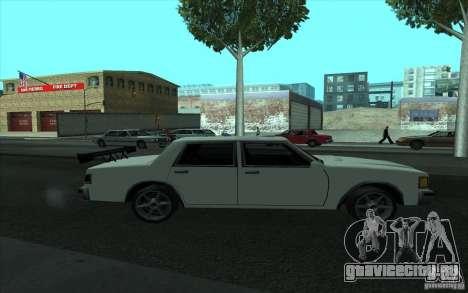 Civilian Police Car LV для GTA San Andreas вид снизу