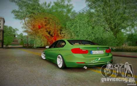 BMW 3 Series F30 Stanced 2012 для GTA San Andreas вид сзади слева