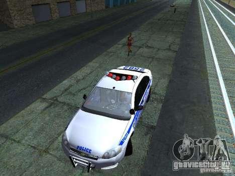 Chevrolet Impala NYPD для GTA San Andreas вид сбоку