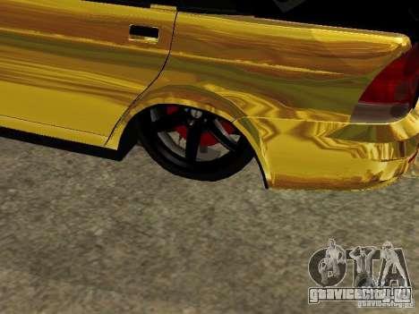 Lada 2170 Priora GOLD для GTA San Andreas вид сзади