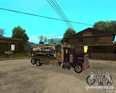 Kenworth W900 SALVAGE TRUCK для GTA San Andreas вид справа