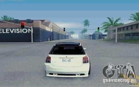 Benefactor Serrano Modder для GTA San Andreas вид справа