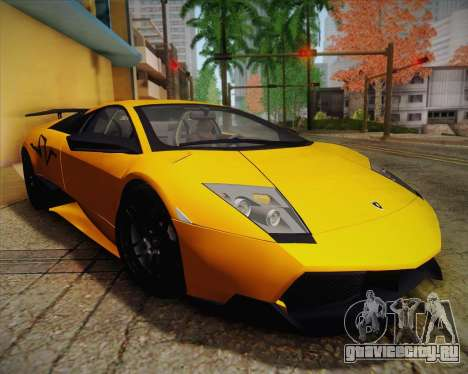 Lamborghini Murcielago LP 670/4 SV Fixed Version для GTA San Andreas вид изнутри