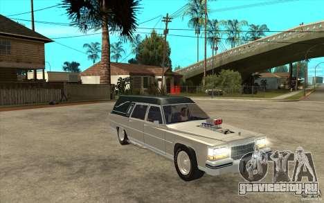 Cadillac Fleetwood 1985 Hearse Tuned для GTA San Andreas вид сзади