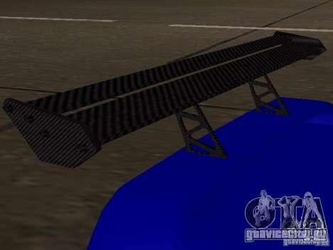 Infernus v 1.2 для GTA San Andreas вид сзади