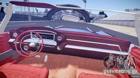 Cadillac Eldorado 1959 interior red для GTA 4 вид снизу