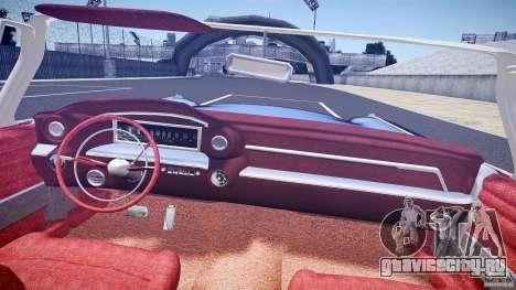 Cadillac Eldorado 1959 interior red для GTA 4 вид снизу