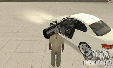 BMW M3 2008 Convertible Hamann для GTA San Andreas вид сзади