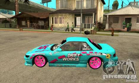 Nissan Silvia S13 Drift Works для GTA San Andreas вид слева