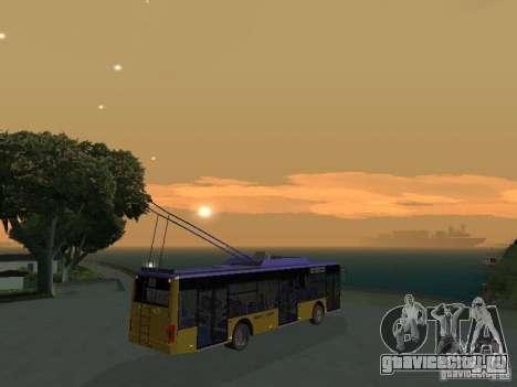 Троллейбус ЛАЗ Е-183 для GTA San Andreas вид изнутри