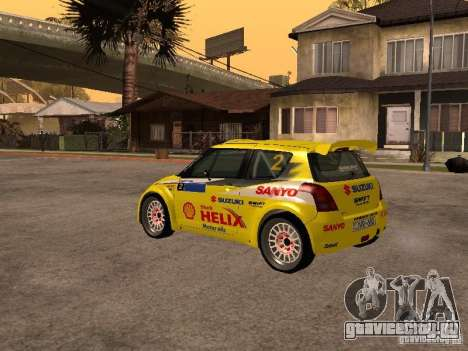 Suzuki Swift Rally для GTA San Andreas вид справа
