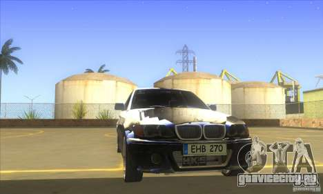 BMW 325i E46 v2.0 для GTA San Andreas вид изнутри