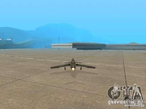 Миг 15 С рабочим вооружением для GTA San Andreas вид сзади слева