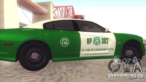 Dodge Charger SRT8 Carabineros для GTA San Andreas вид слева