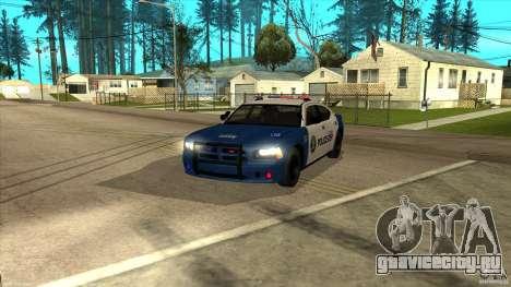 Dodge Charger Los-Santos Police для GTA San Andreas вид сзади слева