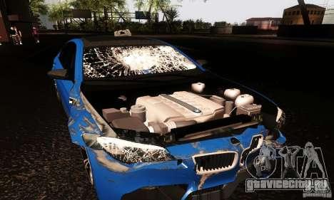 BMW M5 F10 2012 для GTA San Andreas вид сзади