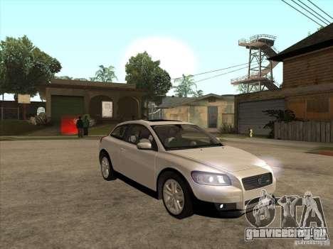 Volvo C30 для GTA San Andreas вид изнутри