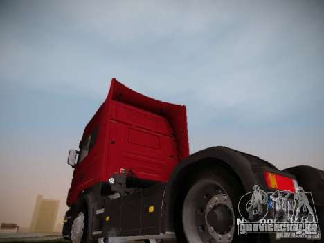 Scania R580 Topline для GTA San Andreas вид сзади слева