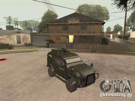 Oshkosh SandCat of Mexican Army для GTA San Andreas вид слева