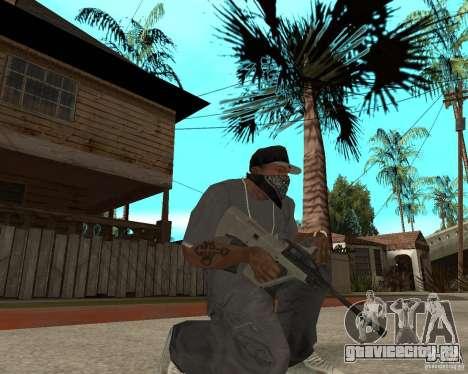 AUG HBAR с коллиматорным прицелом для GTA San Andreas второй скриншот