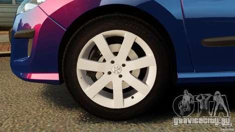 Peugeot 308 2007 для GTA 4 вид снизу