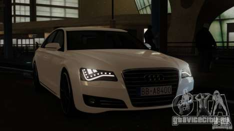 Audi A8 (D4, Typ 4H) 2010 Alpha для GTA 4 вид справа