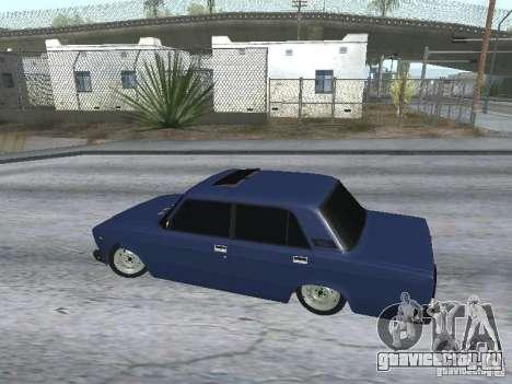 ВАЗ 2107 v2 для GTA San Andreas вид справа