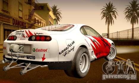 Toyota Supra JZA80 RZ Dragster для GTA San Andreas вид изнутри