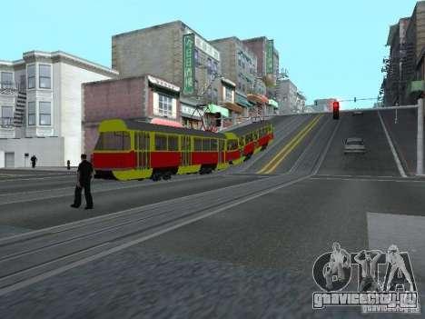 Татра Т3SU для GTA San Andreas вид изнутри