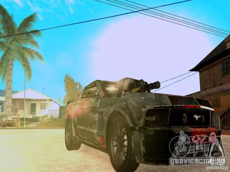 Ford Mustang Death Race для GTA San Andreas вид изнутри