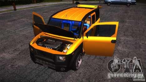 Honda Element LX для GTA San Andreas вид сверху