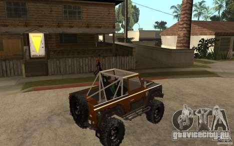 Land Rover Defender Extreme Off-Road для GTA San Andreas вид справа