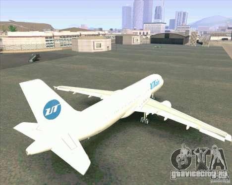 Airbus A-320 авиакомпании UTair для GTA San Andreas вид изнутри