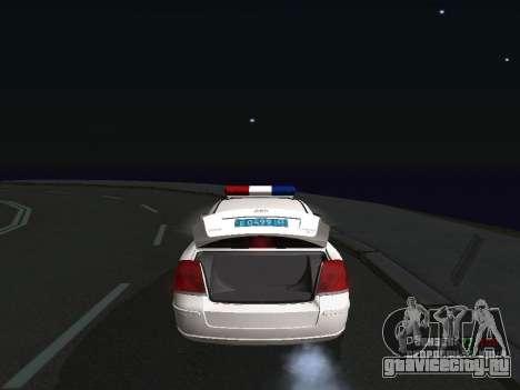Toyota Avensis ДПС для GTA San Andreas вид справа