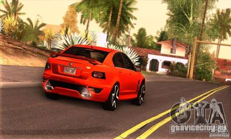 Holden HSV GTS для GTA San Andreas вид сзади
