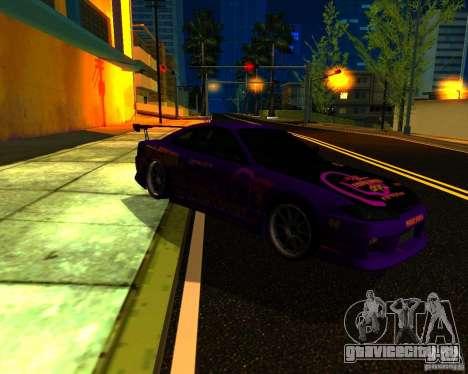 Nissan Silvia C-West для GTA San Andreas вид сзади слева